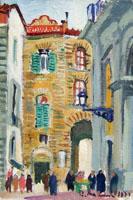 Работы  Rodolfo Marma - Piazza San Piero oil холсткартон