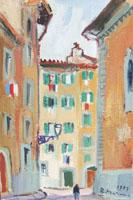 Quadro di  Rodolfo Marma - Chiasso dei coverelli Óleos tabla