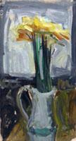 Quadro di H. Bonora - Vaso con fiori olio cartone