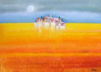 Quadro di  Lido Bettarini - Paesaggio huile toile