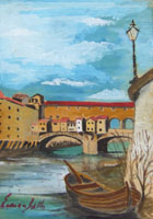 Work of Enrico Gallo  Firenze - Scorcio di Ponte Vecchio