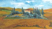 Quadro di  Enrico Gallo - Terre di Siena acrÍlico tabla