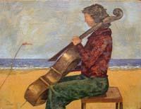 Quadro di  Giampaolo Talani - Concerto sul mare Óleos tela