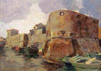 Quadro di  Carlo Domenici - Fortezza vecchia huile tableau