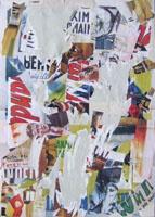 Quadro di  Andrea Tirinnanzi - Frammenti del cinema  decollage toile