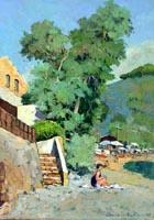 Work of Claudio da Firenze - Enfola (Isola D'Elba) oil canvas