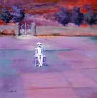 Quadro di  Umberto Bianchini - L'attesa Óleos tela