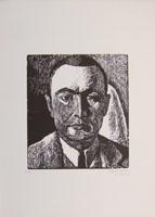 Quadro di  Algero Cantini - Volto graphique papier