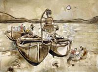 Quadro di  Rosa Martemucci - Barche mixta -