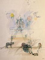 Quadro di  Claude Falbriard - Paris acuarela papel