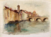 Работы  Gino Tili - Firenze watercolor бумага