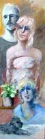 Quadro di  Umberto Bianchini - Composizione acrÍlico tabla