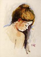 Работы  Gino Tili - Ritratto mixed бумага
