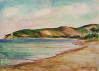 Quadro di  Rodolfo Marma - Isola d'Elba (Procchio) acuarela papel