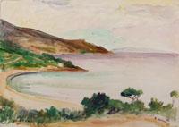 Quadro di  Rodolfo Marma - Isola d'Elba acuarela papel