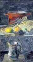 Quadro di H. Bonora - Natura morta olio cartone