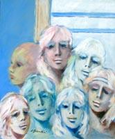 Quadro di  Umberto Bianchini - Volti acrylique toile