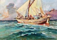 Quadro di  Carlo Domenici - Barca huile tableau