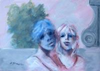 Quadro di  Umberto Bianchini - Le Amiche acrylique toile