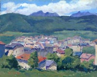 Work of Gino Paolo Gori - Case di Fondo (TRENTO) oil -