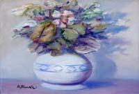 Quadro di  Umberto Bianchini - Vaso di fiori Óleos tela