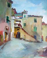 Работы  Gino Tili - Antico borgo oil холст