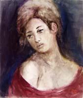 Quadro di  Gino Tili - Ritratto temple tela