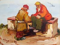 Work of Basso Ragni - Figure oil table