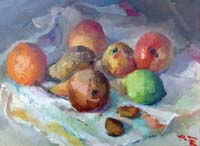 Work of Gino Tili - Frutta oil table