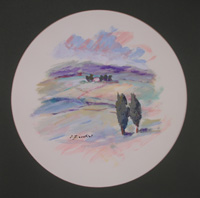 Quadro di  Umberto Bianchini - Paesaggio détrempe papier