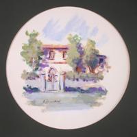 Quadro di  Umberto Bianchini - Paesaggio temple papel