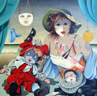 Quadro di  Giovanni Maranghi - Dietro le maschere Óleos tela