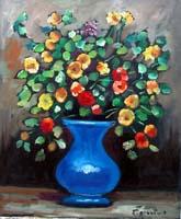 Quadro di  Luigi Pignataro - Vaso di fiori Óleos tela