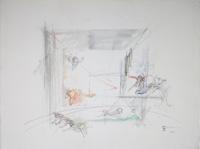Quadro di  Claude Falbriard - Senza titolo mixta papel