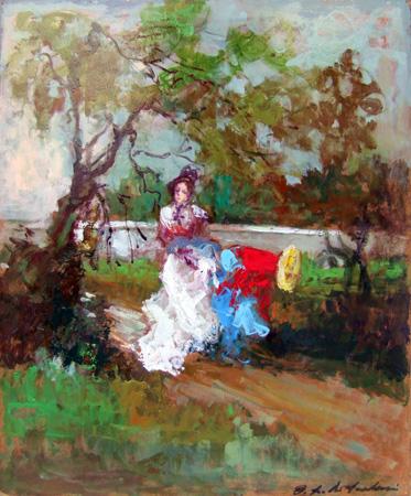 Osman Lorenzo De Scolari - Donne nel parco