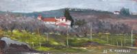 Quadro di M. Martelli - Paesaggio olio tavola