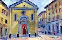 Quadro di Rodolfo Marma  Piazza S.Felicita  (Firenze)
