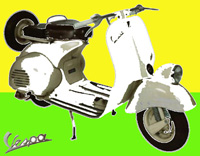 Work of Andrea Tirinnanzi - Vespa  digital art paper on table