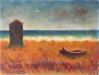 Work of Carlo Carrà  Spiaggia (copia d'autore)