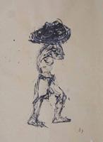 Quadro di  Beppe Fabbrini - Figura mixta papel