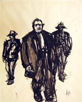 Quadro di  Beppe Fabbrini - Mafiosi mixta papel