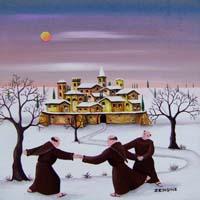 Quadro di  Zenone (Emilio Giunchi) - Frati olio tavola