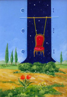 Работы  Franco Lastraioli - L'altalena oil стол