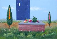Quadro di  Franco Lastraioli - Paesaggio con frutta huile tableau