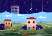 Quadro di  Franco Lastraioli - Dal giorno a la notte huile tableau