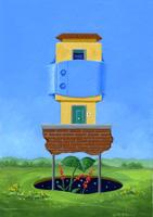 Quadro di  Franco Lastraioli - Abitazione huile tableau