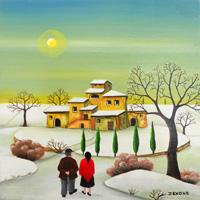 Quadro di  Zenone (Emilio Giunchi) - Paesaggio olio tavola
