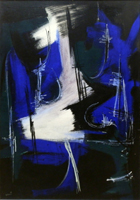 Работы  Franco Lastraioli - Composizione mixed холст