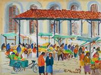 Quadro di  Rodolfo Marma - Mercato Centrale Óleos cartÓn tela