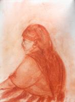 Quadro di  Beppe Fabbrini - Donna sanguina papel